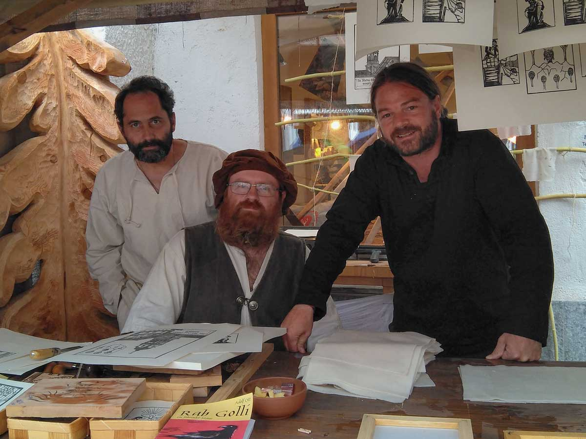 Michael Wurmer, Peter Reindl und Fabian Roessler