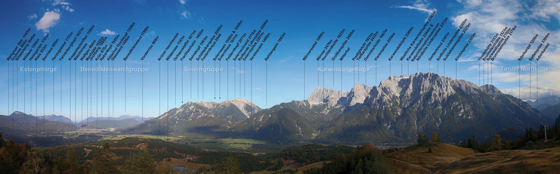 Panorama des Karwendels