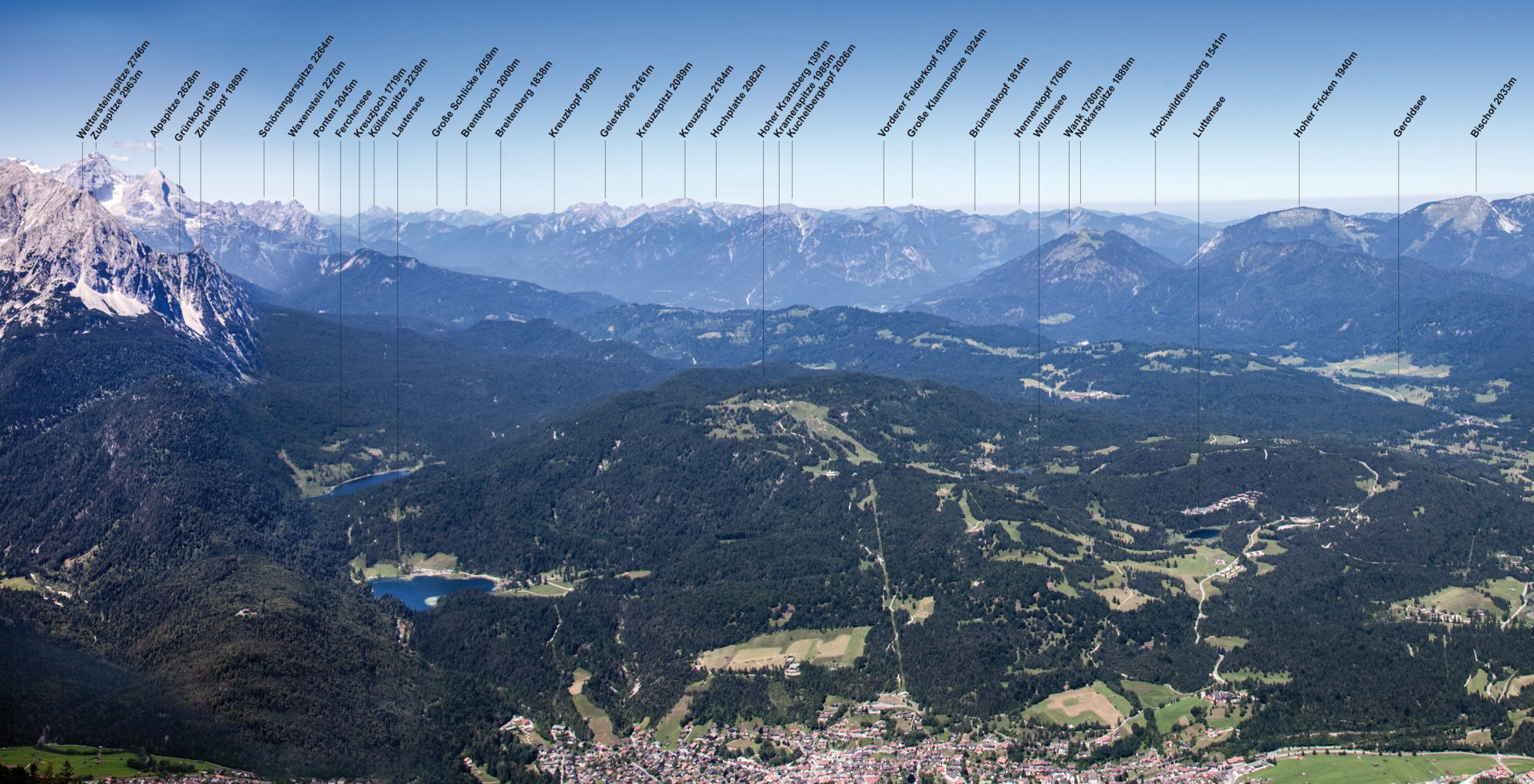 Panoramablick über den Kranzberg